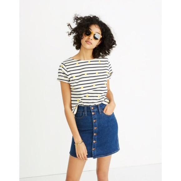 e521e52574 Madewell Dresses & Skirts - Madewell Straight Button Denim Mini Skirt 25